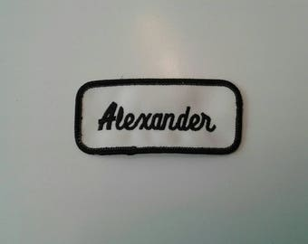 Vintage Alexander Name Patches