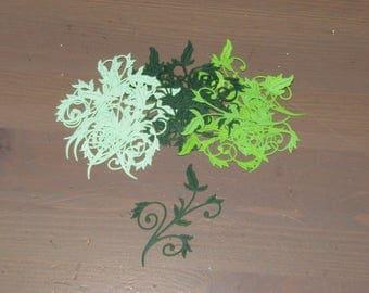 Foliage Die-cuts x 15 - Cardmaking, Papercraft