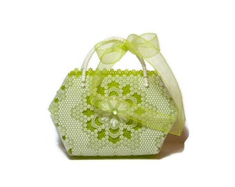 Miniature pergamano or paper lace bag