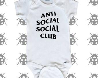 Anti Social Social Club baby onesie. Urban culture inspired