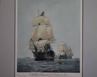 Vintage Print Journey of Victory 1788 Ship Print