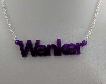 WANKER Necklace - Purple
