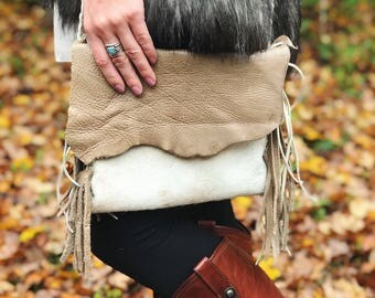 Handcrafted Leather Bag with Fringe