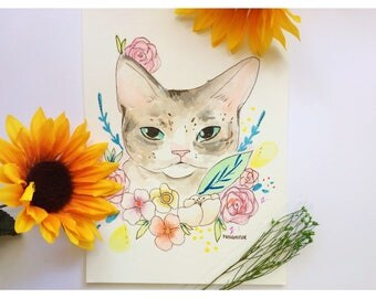Custom Cat Illustration