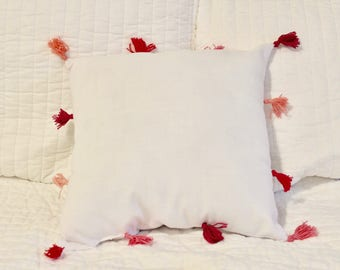 Pink Tassel Decorative Pillow