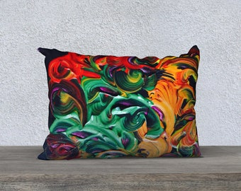 "The fire 14 ""x 20"" pillow cover"