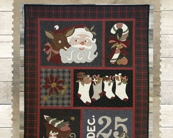 Buttermilk Basin Santas Coming to Town quilt pattern from Stacy West