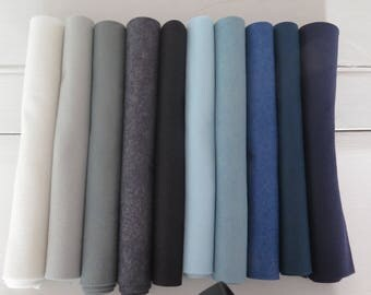 10 sheets wool blend felt collection,  Janet Clare SKY Inspired collection,
