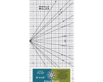 "RRURR165  - Angle Ruler  - 6"" x 14"" - Robin Ruth Designs"