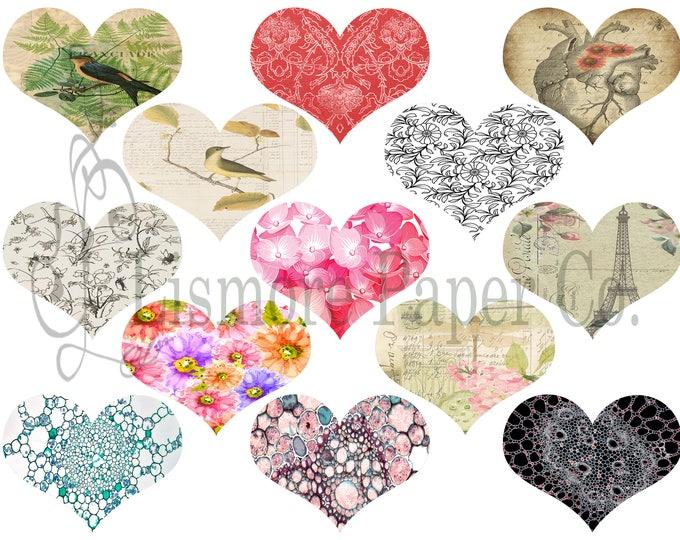 Heart Clip Art, Valentine,Digital heart clipart,Love clipart,Clip arts, Digital Clip Art, Digital hearts,Love heart, Bird Clipart, PNG,