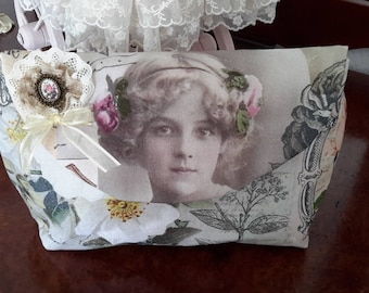bag lingerie shabby way TILDA fabric postcard
