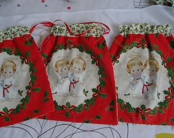 Christmas Angels pattern bag
