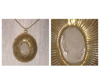 Anniversary Sale Napier Goldtone Cameo Necklace