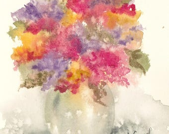 bouquet 41 - original watercolor painting