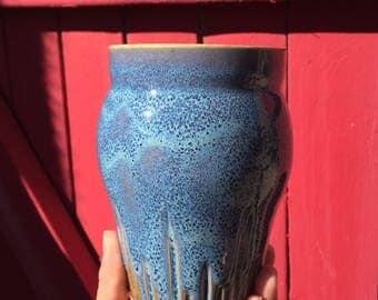 Speckled blue tumbler