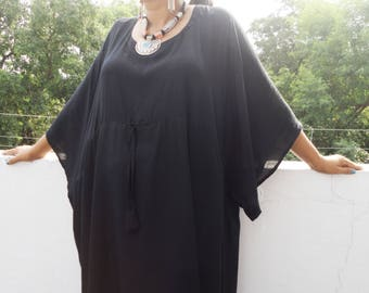 Plus size clothing, Kaftan, Black Caftan, Caftan Dress, kaftan dress, Plus size kaftan, Black Abaya, Bohemian maxi dress, Moroccan Kaftan