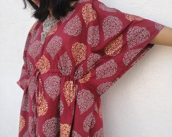 Indian Dress, Indian Blockprint Dress, Indian Caftan, Bohemian Clothing, Caftan dress, Kaftan for women, Baby shower dress, Nursing gown
