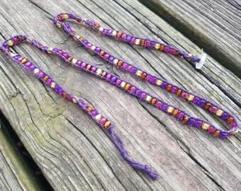 Handmade Glass Bead Wrap Bracelet