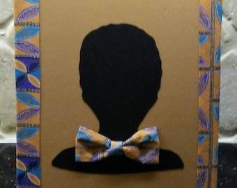 African Ankara Lotus Leaf Print Boy's 8x10 Fabric Art