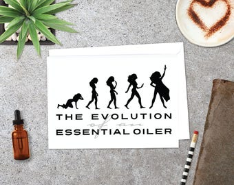 Essential Oil Greeting Cards - The Evolution of an Essential Oiler  | 5pk, 10pk, 25pk,50pk | doTERRA Cards | Young Living Cards