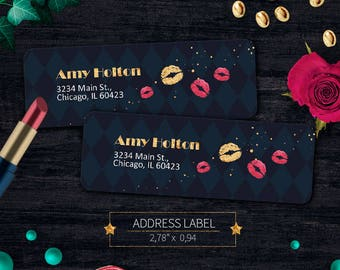 Dark Lipsense Address Labels, Lipsense Stickers, Senegence Sticker Label, Mailing Label, For Distributors