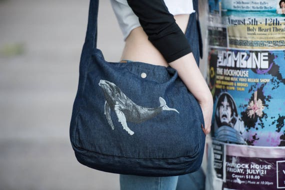Humpback Whale Cross Body Tote