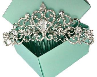Art Deco Rhinestone Crystal Bridal Hair Comb. Vintage Inspired Wedding Hair Comb. Bridal Hair Piece. Wedding Headpiece. Wedding Hair Jewelry