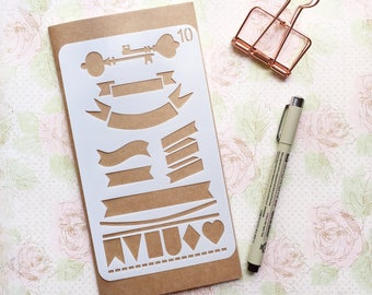 Bullet Journal Stencil #10 - Planner, Journal, Craft, Scrapbooking, Decoration