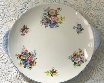 Shelley Wild Garden Cake Plate
