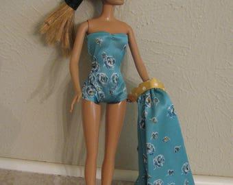 Barbie doll clothes- Aqua swim