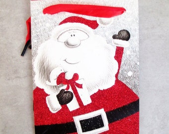 1 bag / pouch / gift for Father Christmas 12 cm x 16 cm x 6.5 cm