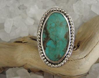 Kingman Turquoise Sterling Silver Ring by Gordon
