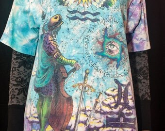 Liquid Blue T-Shirt Rare Ian Bohorquez Size Large Occult Theme Rare Vintage 1990s
