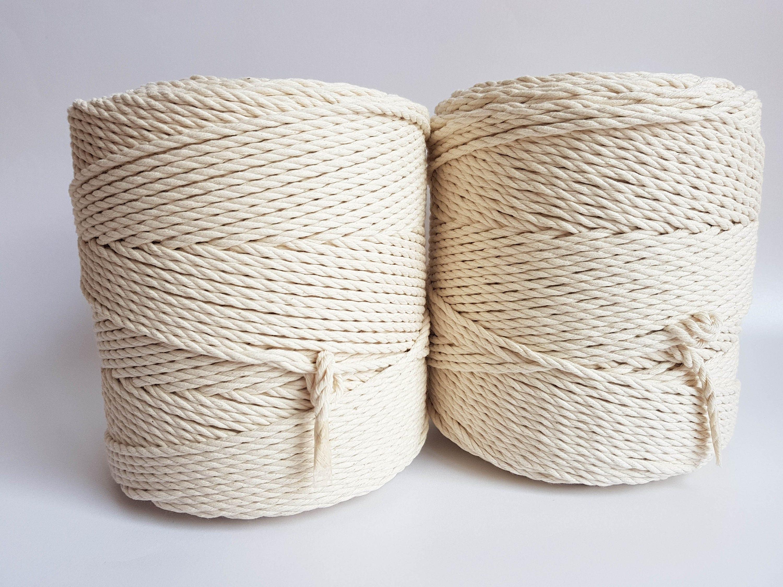 macram cordon 4 mm corde de coton corde de coton 3 kg tordu. Black Bedroom Furniture Sets. Home Design Ideas