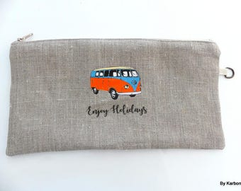 combi WW linen pouch