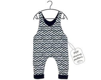 Baby romper pattern PDF, kids romper pattern PDF, sewing patterns, sewing patterns baby