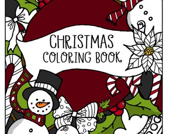 Christmas Coloring Book! INSTANT DOWNLOAD!