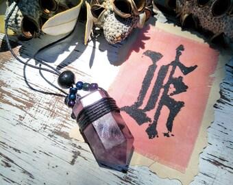 Purple fluorite necklace
