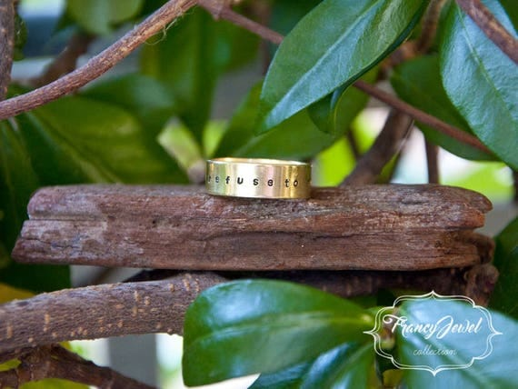 Engraved ring, custom engraving, band ring, brass ring, custom jewelry, nichel free, made in Italy, anniversary ring, statement ring