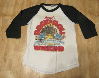 Vintage Heart Rock And Rock Weekend shirt Canadian Jam 80s 1980s tour shirt