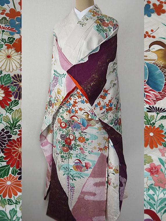 kimono de seconde main japonais vintage formelles kimono et. Black Bedroom Furniture Sets. Home Design Ideas