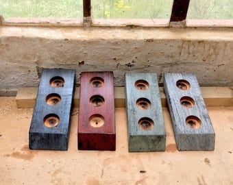 Three Handcrafted Candle, Tea Light Holders