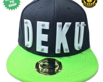 DEKU Arcylic Letter Snapback Hat