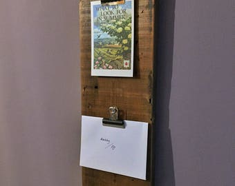 Rustic solid wood notice board