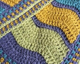 Handmade modern crochet baby blanket