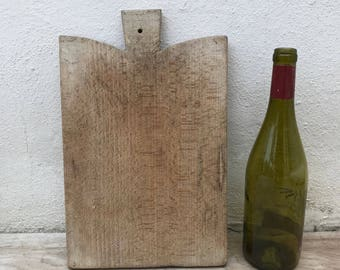 ANTIQUE VINTAGE FRENCH bread or chopping cutting board wood 17021822
