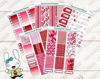 Valentine Weekly Planner Kit --- Planner Stickers --- For use with the Classic HP --- 01