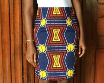 African clothing ankara fabric short skirt african print skirt wax print skirt ankara pencil skirt women's skirt