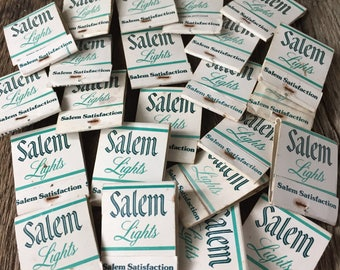 SALEM LIGHTS MATCHBOOKS - 23 matchbooks