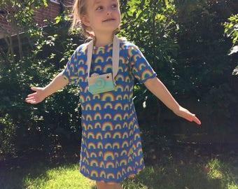 Raglan rainbow dress